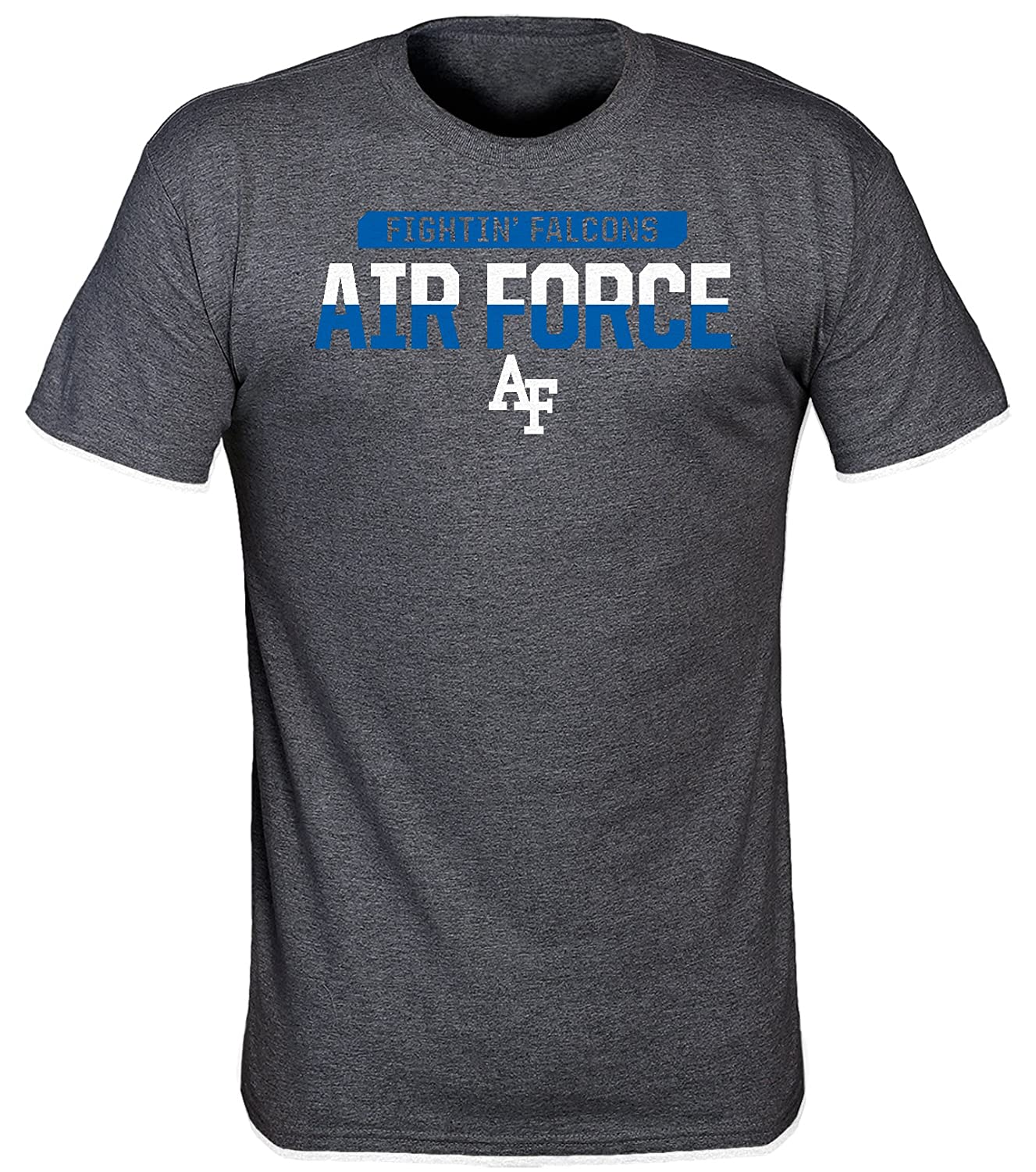 2X-Large Tall Dark Heather Old Varsity Brand NCAA Air Force Falcons Mens Lazer Poly T-Shirt