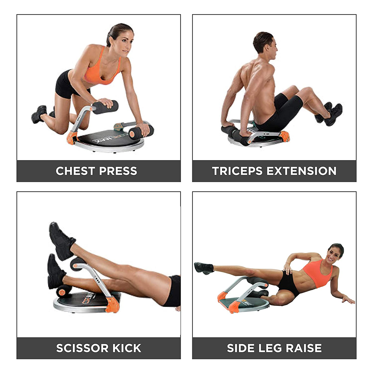 New Image Core Max 8-In-1 Home Workout Training System Tone Tighten And Sculpt Abs /& Obliques