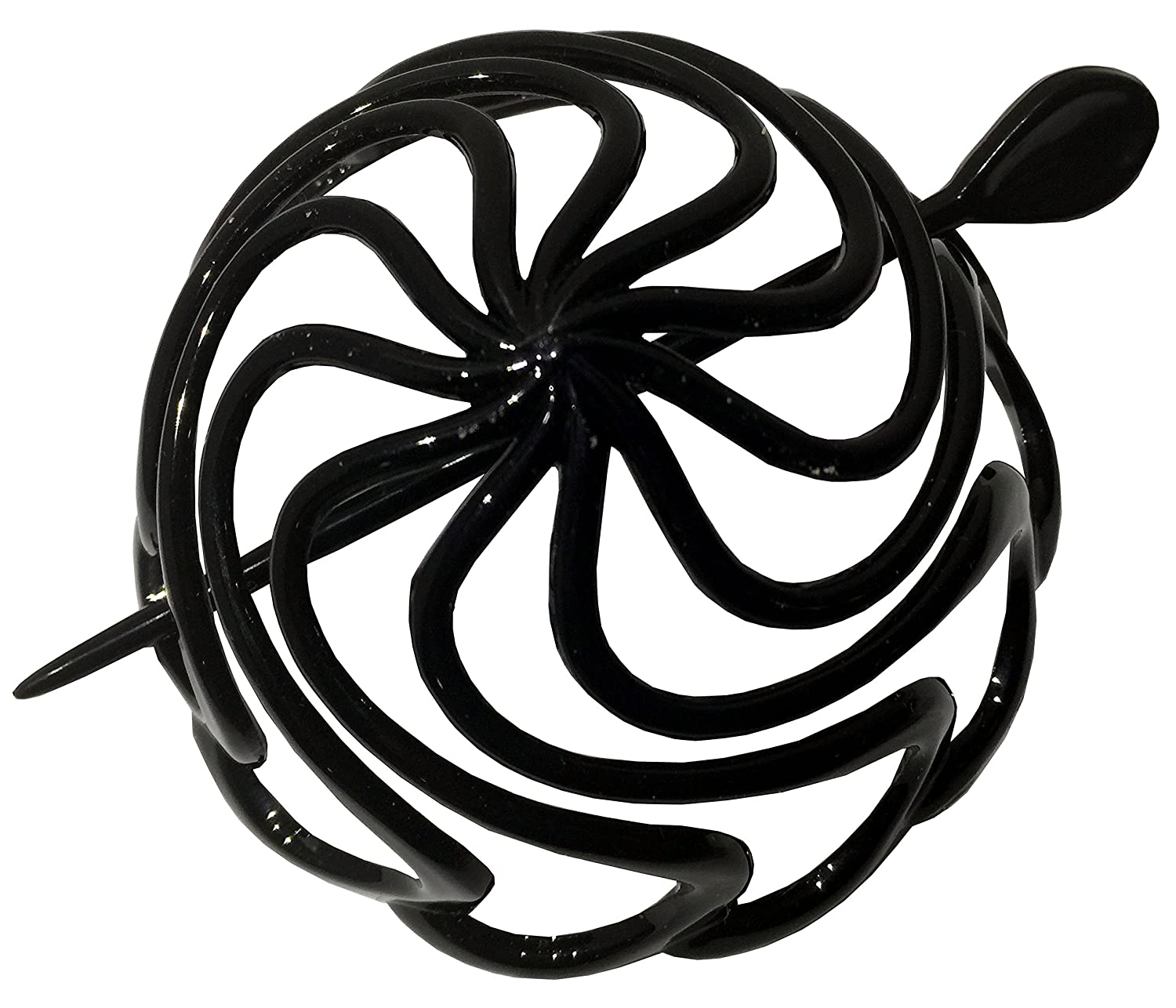 Parcelona French Radial Medium Shell Celluloid Hair Slider Bun Cover with stick