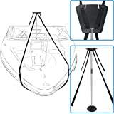 iCOVER Boat Cover Support Pole System-Height Adjustable Aluminum Telescoping Pole and 56 Feet Long Webbing Strap to…