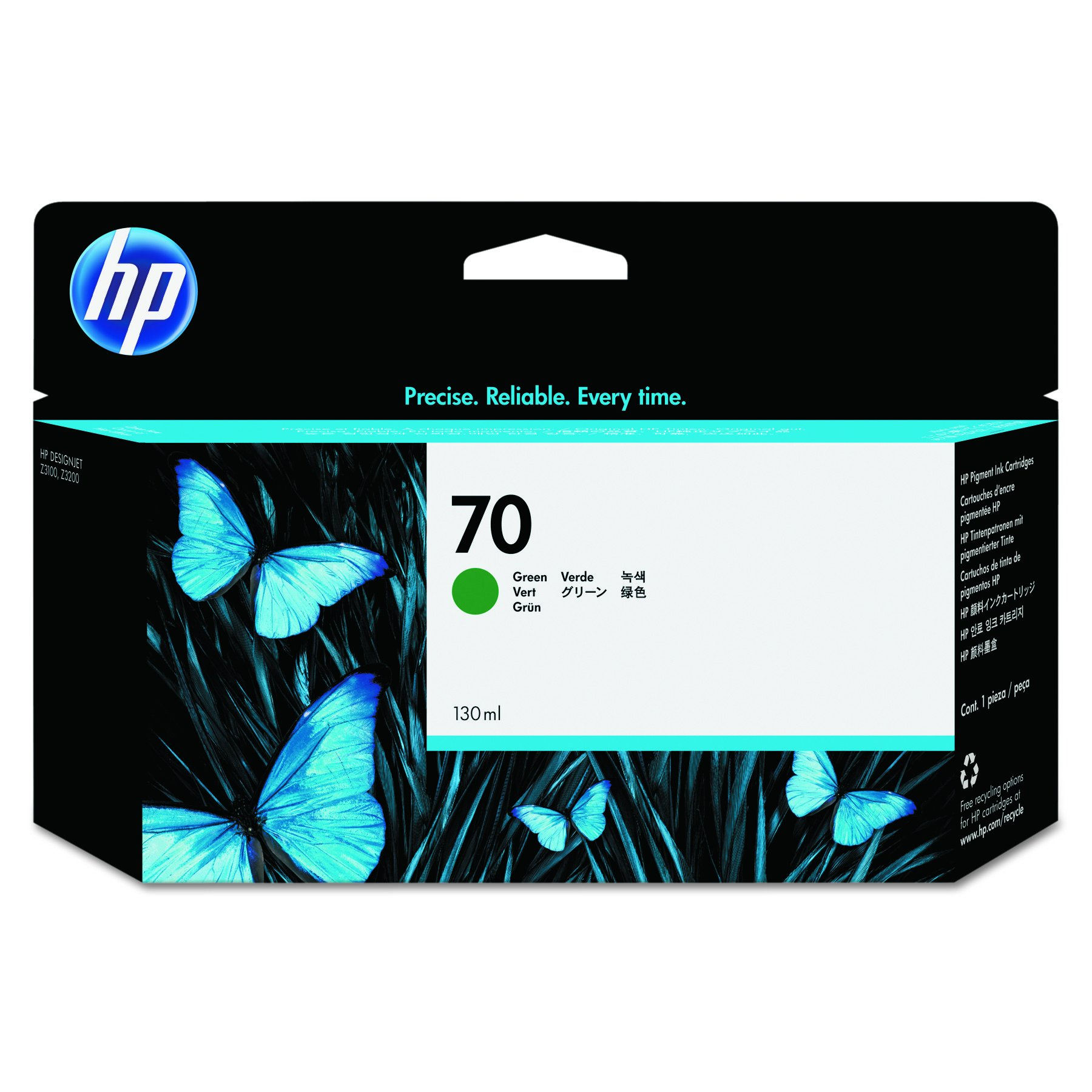 HP 70 Green C9457A 130 Ml Ink Cartridge Use In Hp Designjet Printer by HP