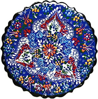 Turkish Ceramics~Hand Painted Ceramic Plate-7 inch-navy  sc 1 st  Amazon.com : turkish tableware - pezcame.com