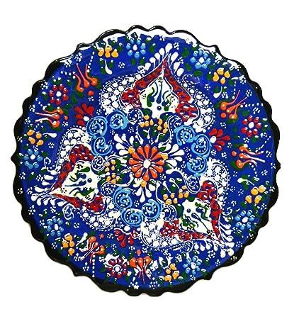 Nazar Turkish Imports ~Hand Painted Ceramic Plate-7 inch-navy  sc 1 st  Amazon.com & Amazon.com: Nazar Turkish Imports ~Hand Painted Ceramic Plate-7 inch ...