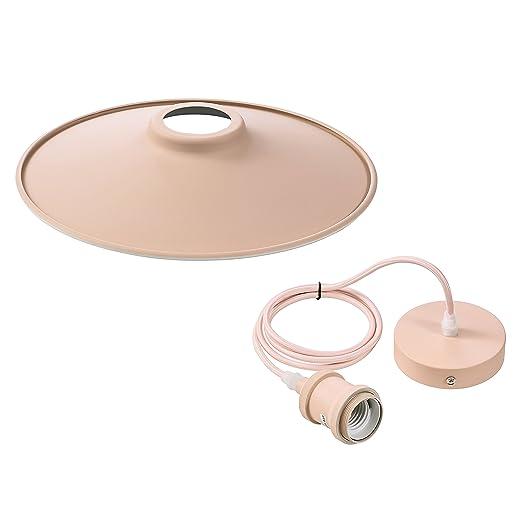 VLIKE PL08 Techo de rosa con la lámpara colgante moderna del techo de la flexión de la suspensión moderna retra de la lámpara para el bulbo E27 (Rosa ...