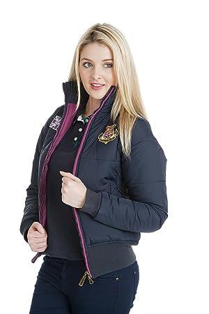 Buckingham Puffa señoras chaqueta azul marino con púrpura contraste Zip, chaqueta, mujer, color Azul - azul marino, tamaño 8: Amazon.es: Deportes y aire ...