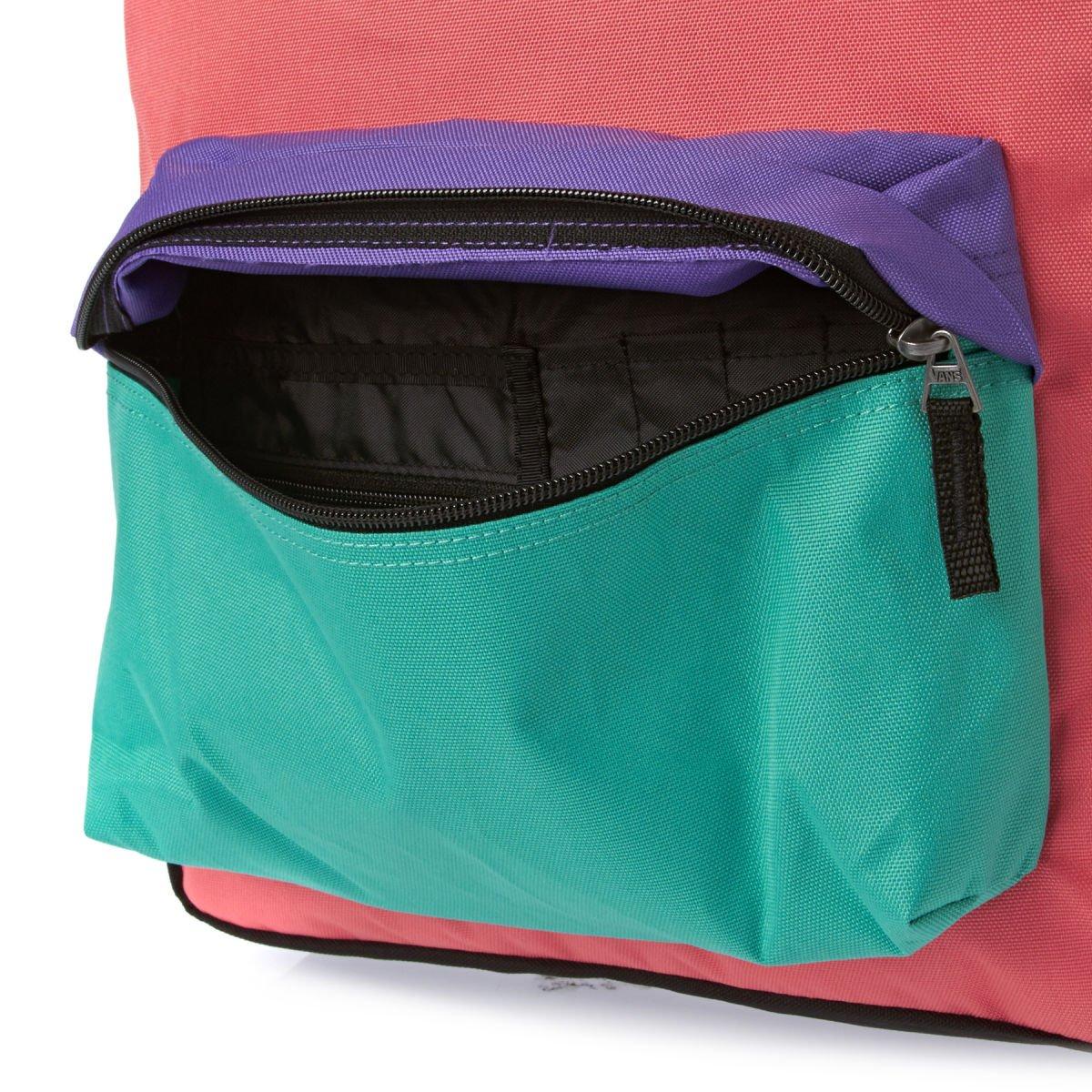 Vans Realm Backpack - Mochila, color negro/morado / azul/naranja, talla única: Amazon.es: Zapatos y complementos
