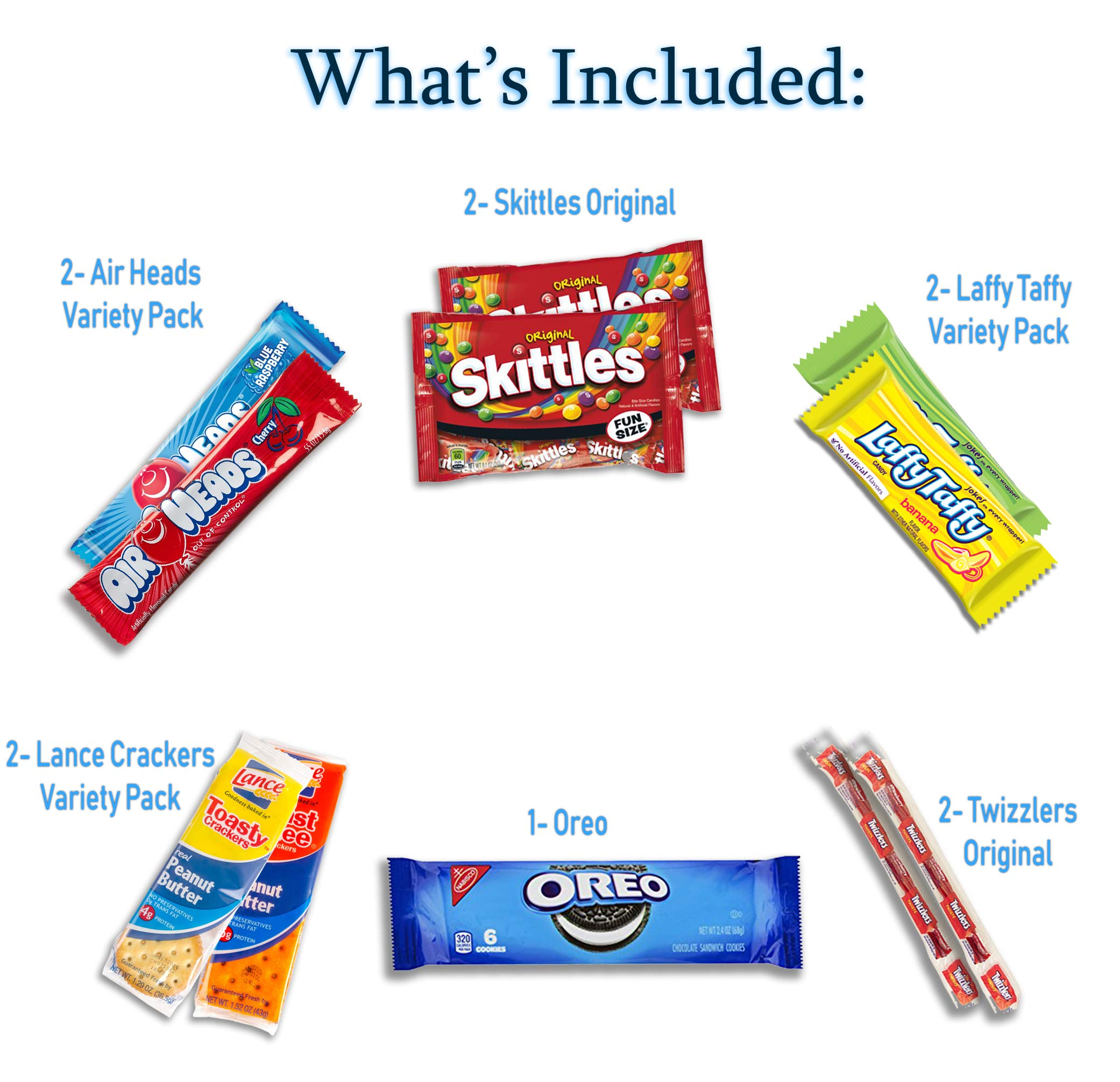 Snacks Care Package - Chips, Cookies, Candy Assortment Bundle Gift Pack and Variety Box 30 Count by Veratify