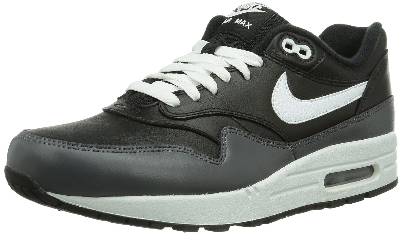 Nike Air Max 1 Ltr 654466 Herren Low-Top Sneaker  42 EU|Schwarz (Black)
