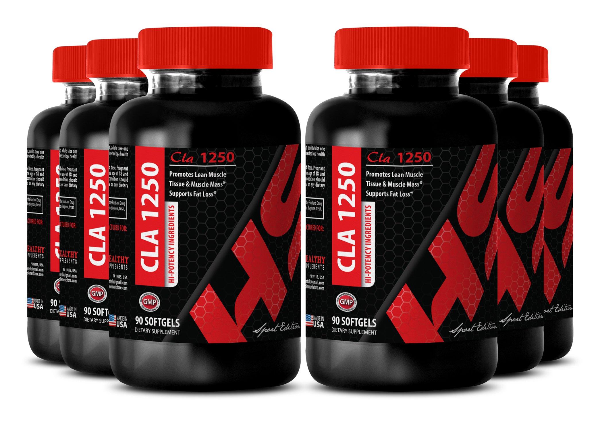 Cla lean body - CONJUGATED LINOLEIC ACID CLA 1250 MG - help burn fat (6 Bottles) by Healthy Supplements LLC