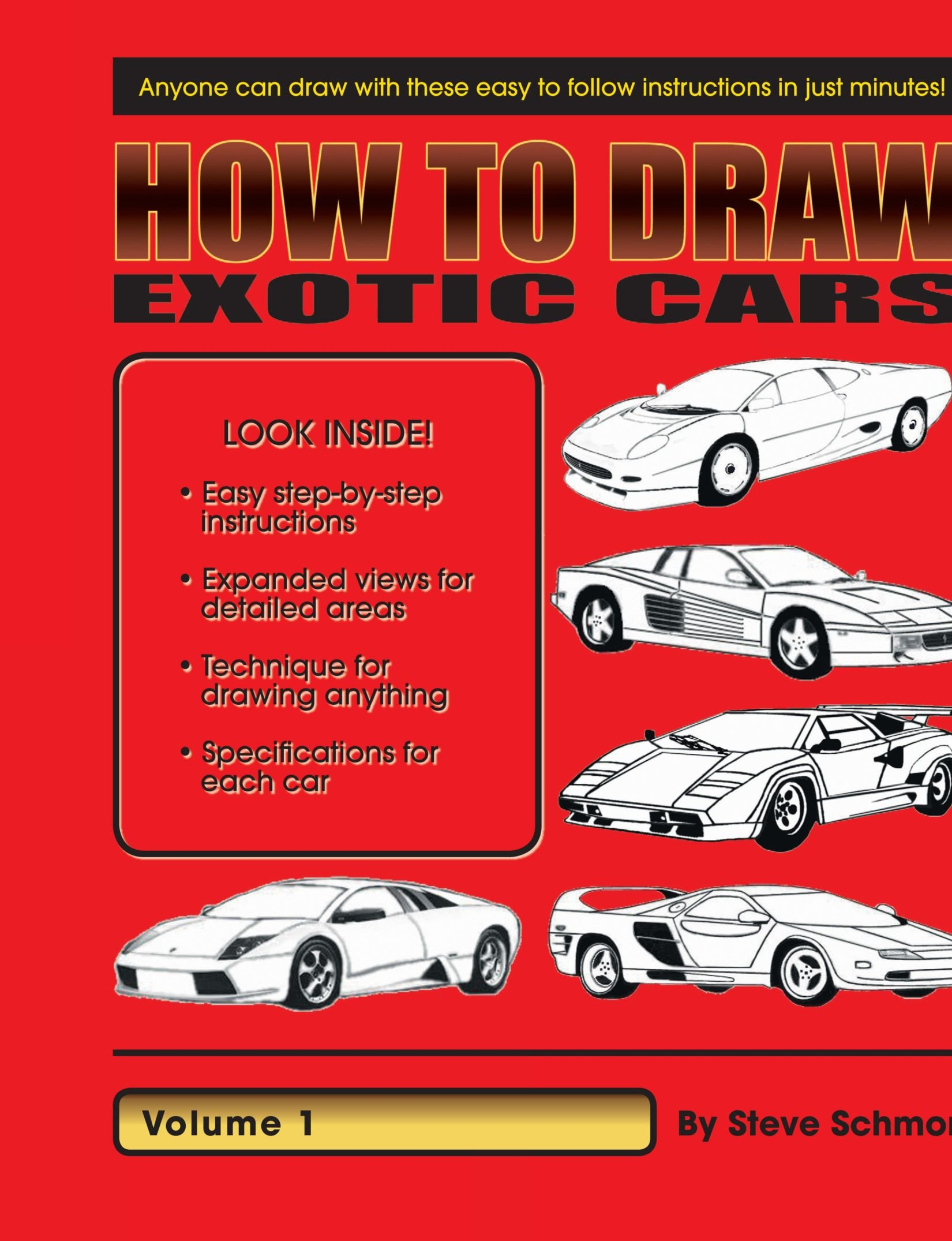 How To Draw Exotic Cars Volume 1 Steve Schmor 9781412037662