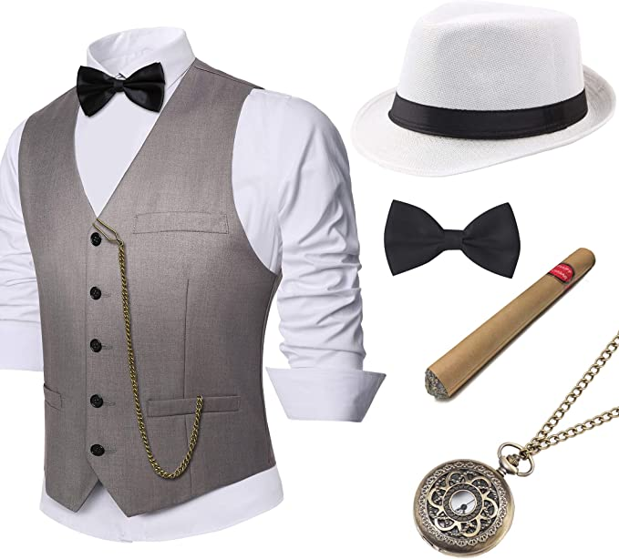 1920s Gangster Costume Style Wedding Suit
