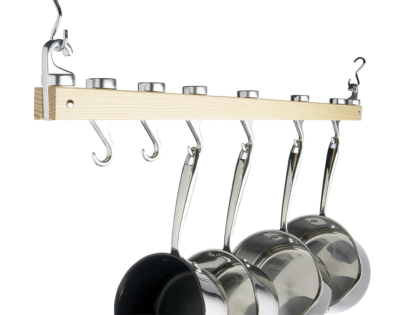 Pfannen Aufhängen kitchen craft master class deluxe hängeleiste aus holz für töpfe