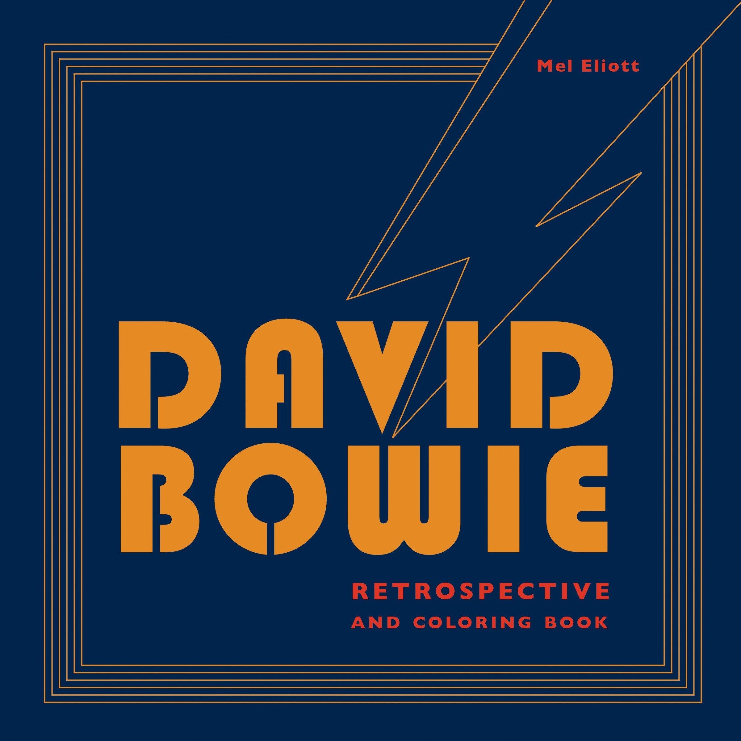 Amazon Com David Bowie Retrospective And Coloring Book