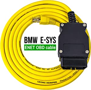 OHP ENET OBD Interface Cable for BMW E-SYS ICOM Coding Diagnostics | 5 Feet