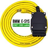 OHP ENET OBD to Ethernet E-SYS Cable | RJ45 to 16 Pin Diagnostic CAT5e OBD2 for Coding F-Series, 1 Series, 3 Series, 5…
