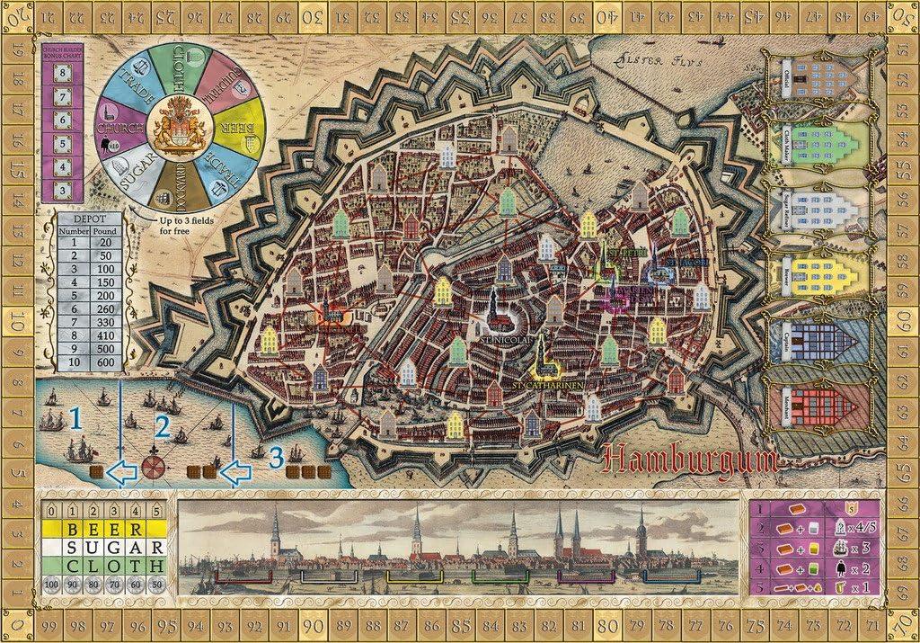Rio Grande Games Hamburgum Antverpia Expansion