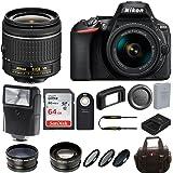 Nikon D5600 DSLR Camera w/18-55mm Lens & Sony 64GB Memory Card Bundle