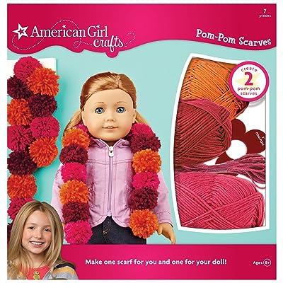 American Girl Crafts Pom Pom Scarf Kit Warm: Toys & Games