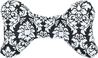 product image for Original Baby Elephant Ears Head Support Pillow for Stroller, Swing, Bouncer, Changing Table, Car Seat, etc. (Black Dandy Damask)
