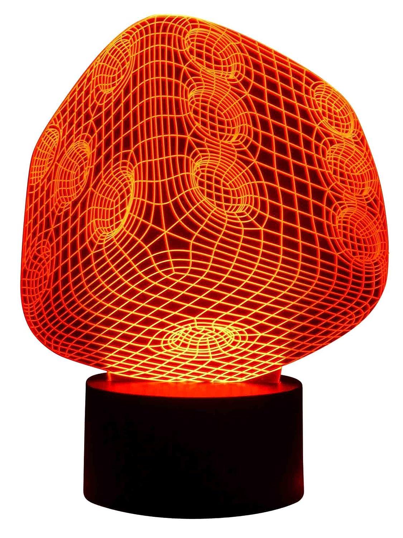 Originelle 3D LED-Lampe Spiel-Würfel Multicolor Farbwechsellicht Wohnzimmerlampe grau.zone
