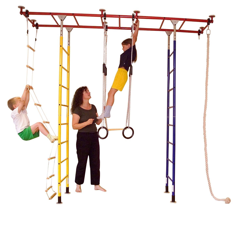 Sprossenwand Metall - Klettergerüst Indoor - Kletterdschungel Brücke