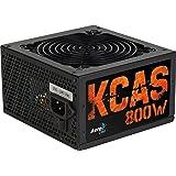 Aerocool KCAS 800S - Fuente de alimentación (20+4 pin ATX, 47 - 53 Hz, Activo, +12V, +3.3V, +5V, +5Vsb, -12V, ATX, 80 PLUS Bronze)