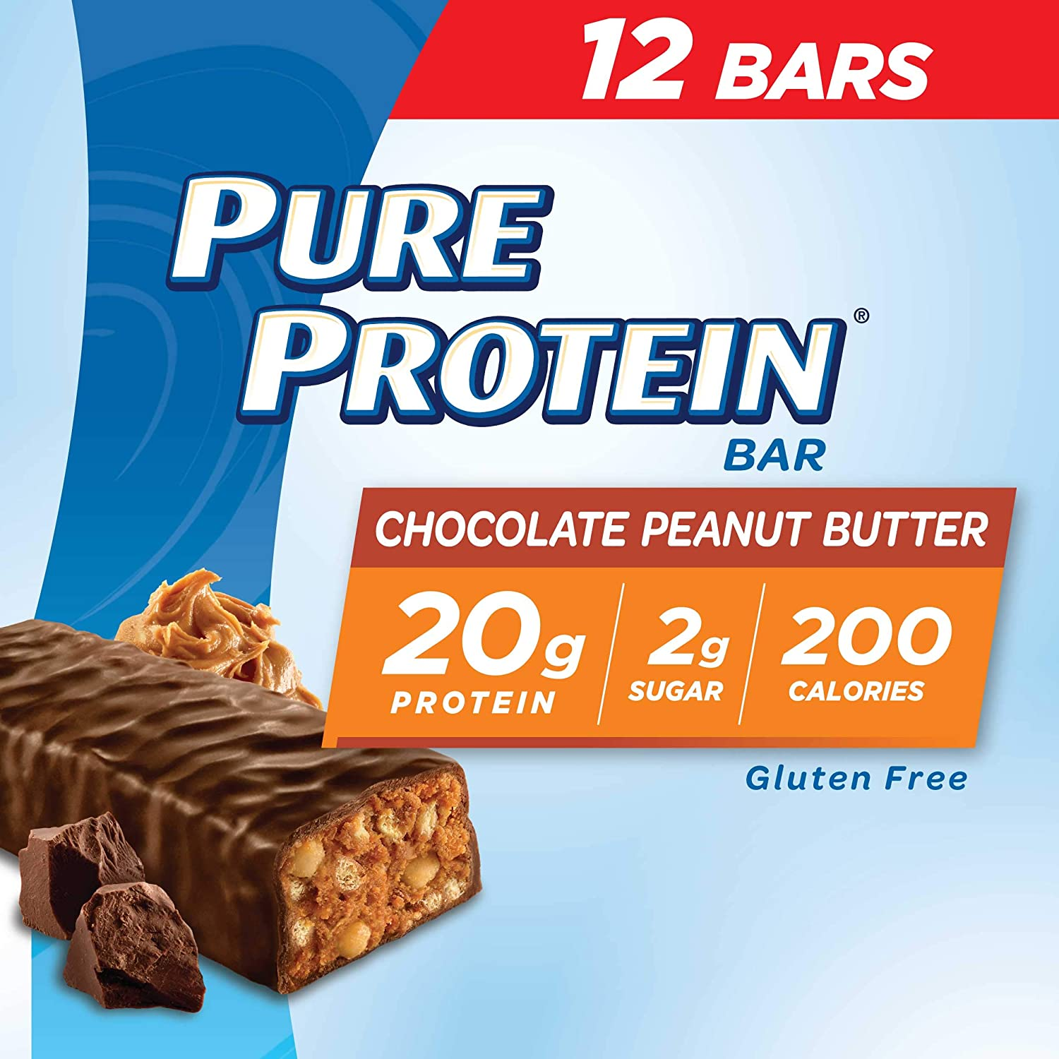 B00GJ82VK4 Pure Protein Bars, High Protein, Nutritious Snacks to Support Energy, Low Sugar, Gluten Free, Chocolate Peanut Butter, 1.76oz, 12 Pack 816dQgypjsL