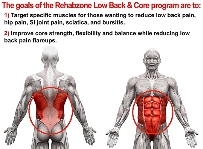 Amazon Rehabzone Lower Back And Core Exercise Plan Physician