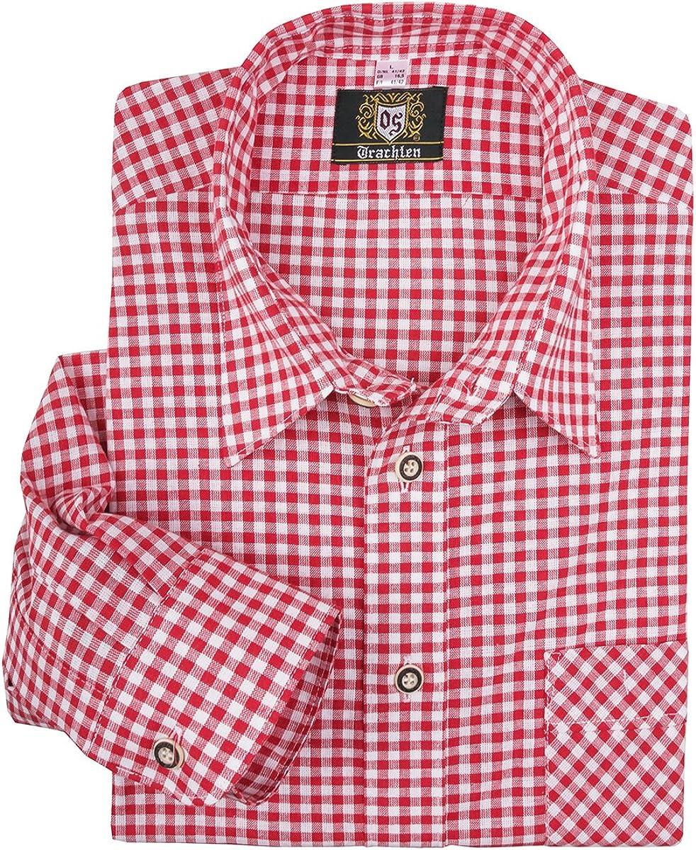 Orbis Camisa Tradicional a Cuadros Rojo-Blanco Oversize: Amazon.es: Ropa y accesorios