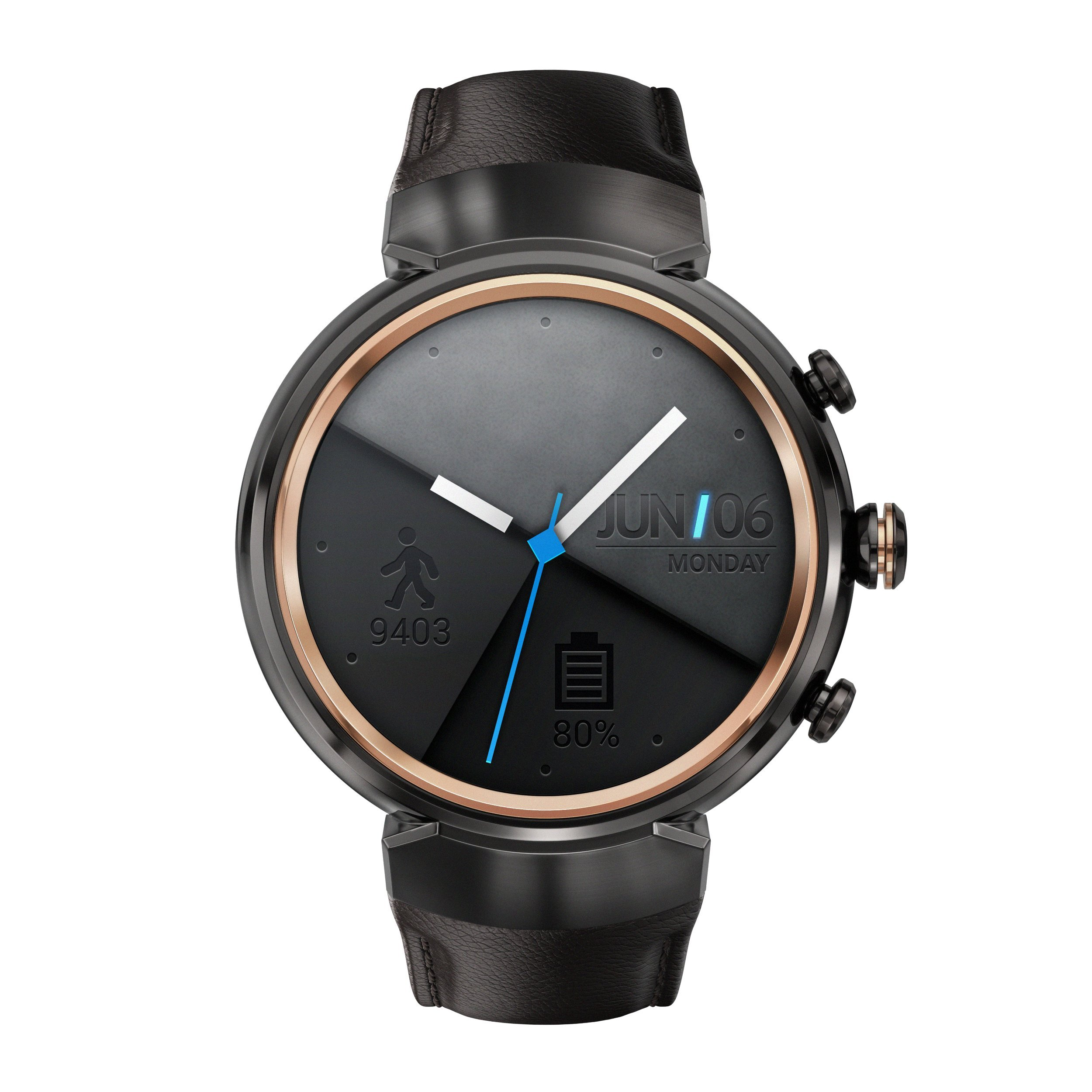 ASUS ZenWatch 3 WI503Q-GL-DB 1.39-inch AMOLED Smart Watch with dark brown leather strap by Asus