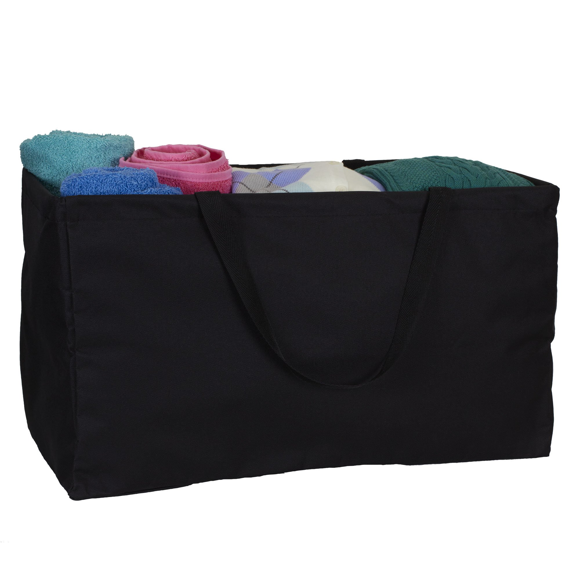 Household Essentials 2212-1 Krush Canvas Utility Tote | Reusable Grocery Shopping Bag | Laundry Carry Bag | Black by Household Essentials (Image #2)