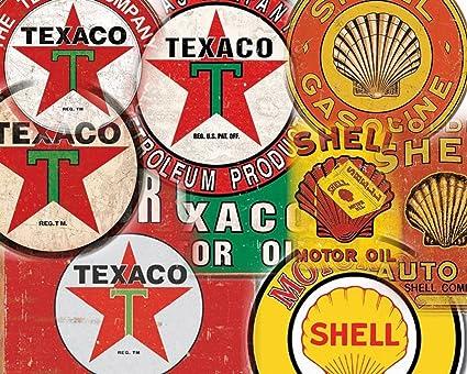 Amazon com : 15 DIFFERENT TEXACO SHELL TIN SIGN SET $9 95 EA