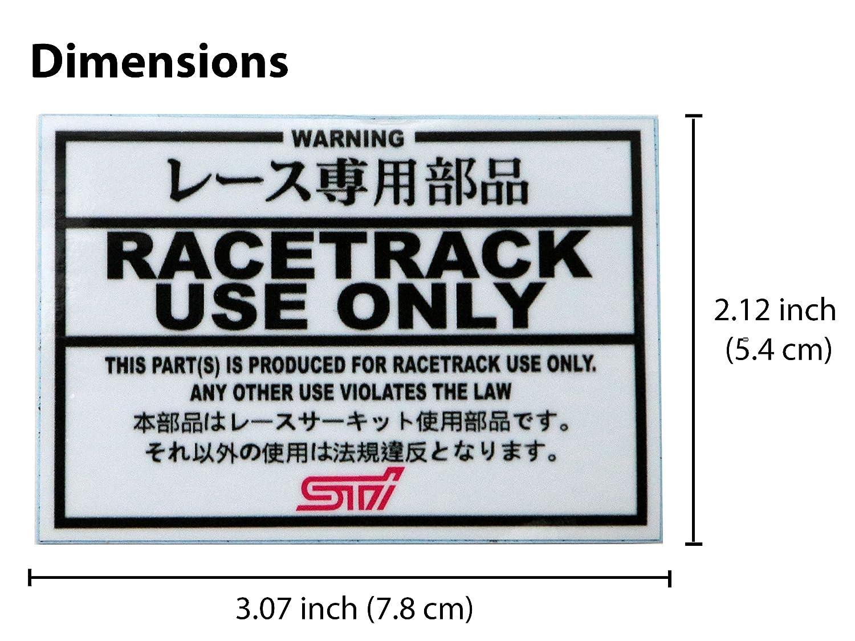 Automotive Car Decal Orafol Vinyl Sticker 2.12 inch x 3.07 inch Subaru Tecnica International - STI JDM Japanese Domestic Market for Subaru Race Track Use Only Ventincre