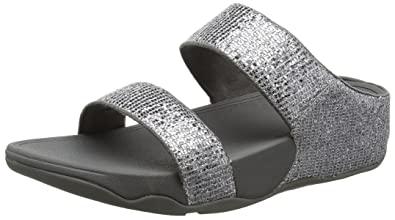 3175f5f5a Fitflop Women s Lulu Superglitz Slide Sandals  Amazon.co.uk  Shoes ...