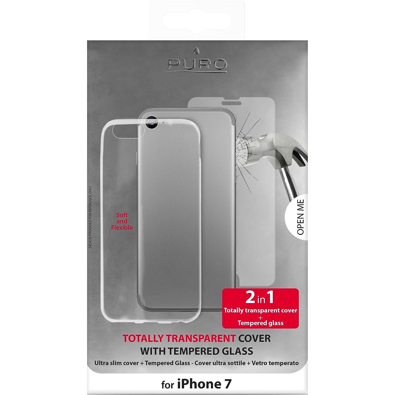 Cover 0.3 Nude con Vetro temperato per Apple iPhone 7 / 8  Puro