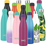 SHO Bottle - Ultimate Vacuum Insulated, Double Walled Stainless Steel Water Bottle & Drinks Bottle - 24 Hrs Cold & 12…