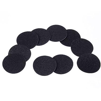 Anladia 10x Anti-Rutsch Sticker für Badewanne, Dusche und Bad, 10cm Durchmesser, Schwarz und Selbstklebend. Durchsichtig Anti