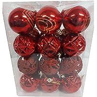 Bola para arvore enfeite de Natal 6cm com 24 peças sortidas (DOURADA)