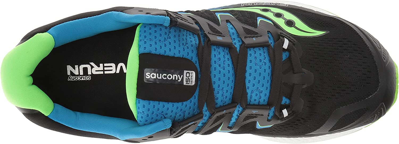 Saucony Men's Triumph ISO 4 Sneaker Black/Slime/Blue