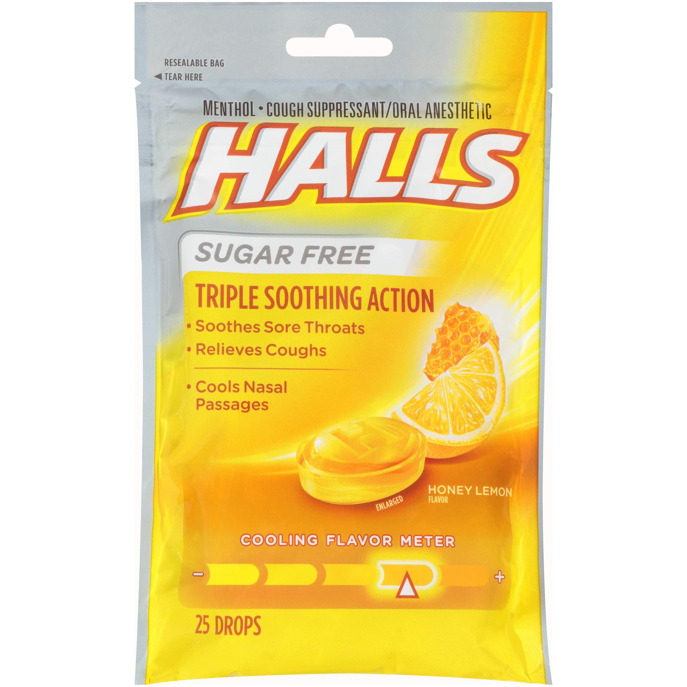 HALLS Sugar Free Cough Drops Honey Lemon & Black Cherry Variety Pack - 150 total drops by Halls (Image #3)