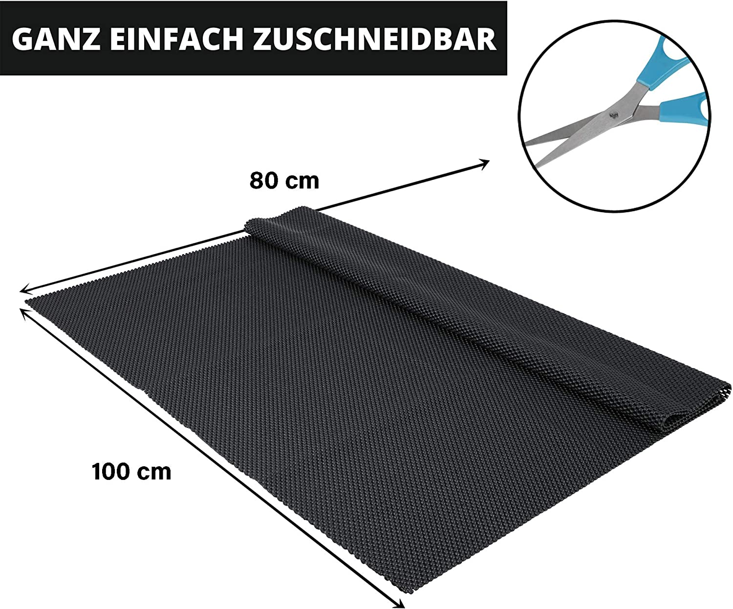 80 x 100 cm Universal Use Can be Cut to Size Carpet Underlay // Boot Protection and Much More Maximum Slip Protection Premium Anti-Slip Mat