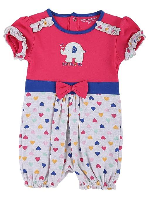 WONDERCHILD Baby Clothing Girls /& Boys 100/% Cotton One Piece Half Romper