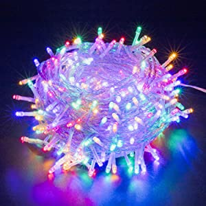XUNXMAS Colorful Fairy String Lights 300 LED 109ft Expandable Christmas Lights, Waterproof UL Certified 8 Lighting Modes Twinkle Lights for Bedroom Wedding Party Christmas Tree Indoor Outdoor Decor