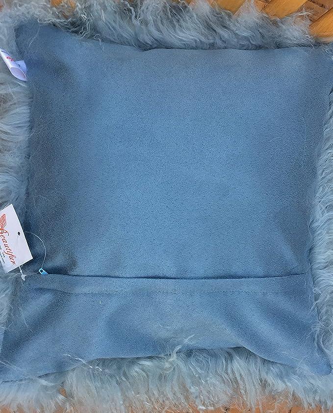 Amazon.com: Genuine tibetano de Mongolia Lamb Fur almohada ...
