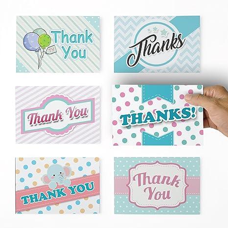 Amazon.com: Tarjetas de agradecimiento – 36 Baby Notas de ...