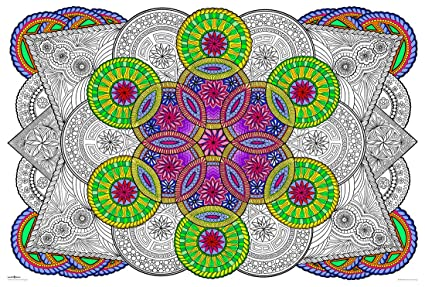 Mandala Challenge - Giant Wall Size Coloring Poster - 32.5\