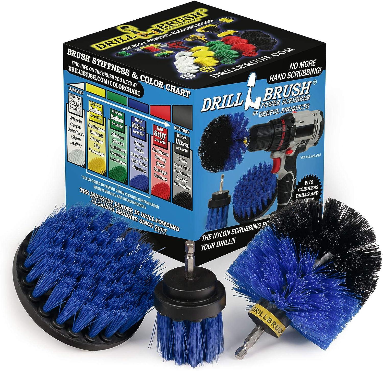 perforar sistema de cepillo Accesorios para parrillas Cepillo de limpieza para el Taladro perforar accesorio de cepillo Grill Brush perforar cepillo el/éctrico Scrubber Perforar Pincel