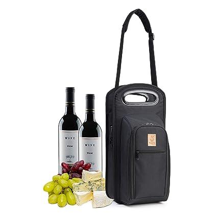 Amazon.com: Nerta Products Bolsa de viaje para vino con ...