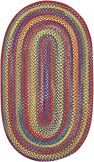 "product image for Capel Rugs Kill Devil Hill Oval Braided Area Rug, 4 x 6"", Bright Multicolor"