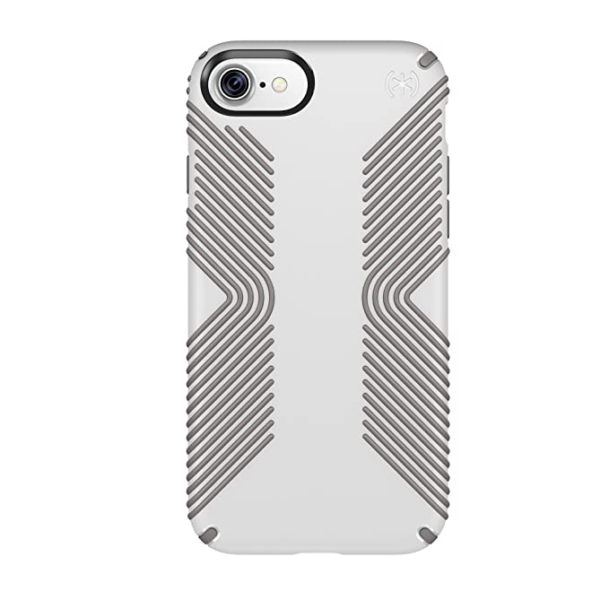 new styles 45a85 07651 Speck Products Presidio Grip Cell Phone Case for iPhone 7 - White/Ash Grey